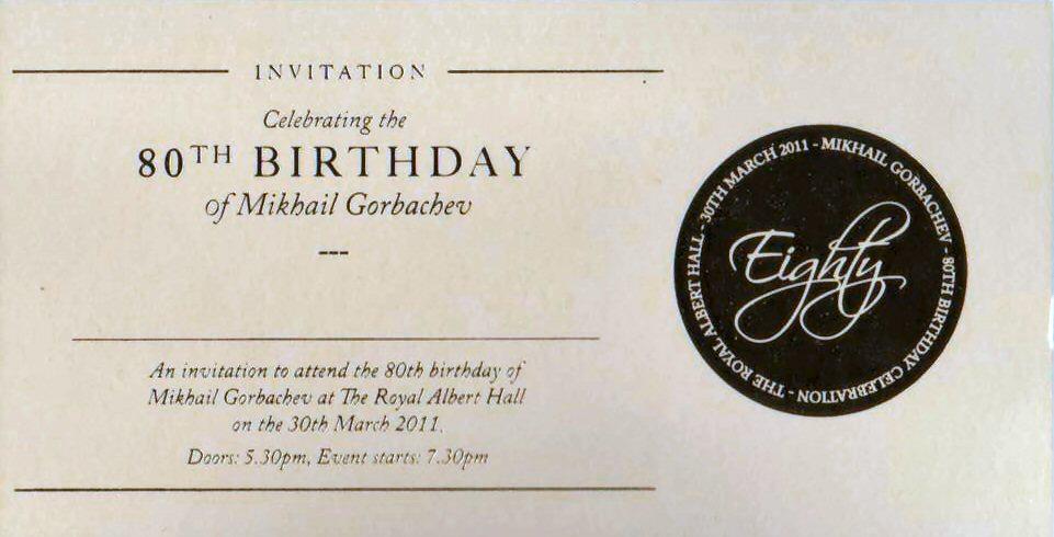 Dsb At Gorbachev 80th Birthday Party Part 1 Shirley