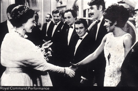 Dame Shirley meets the Queen wearing THAT dress