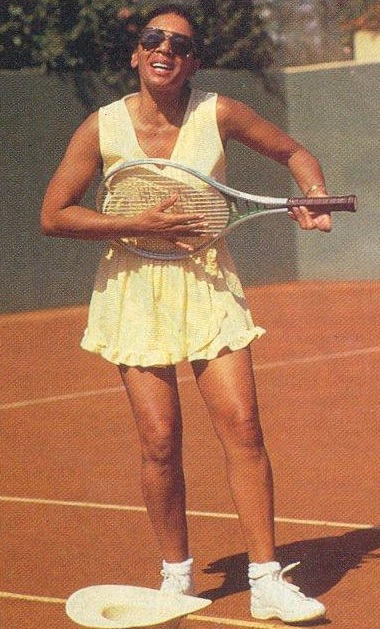 DSB on the tennis court in January 1988