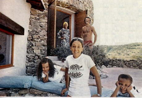 Shirley and her family at their holiday home in Sardinia in 1971