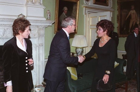 Dame Shirley and John Major