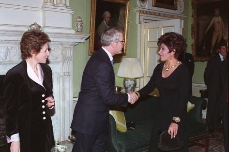 Dame Shirley and John Major