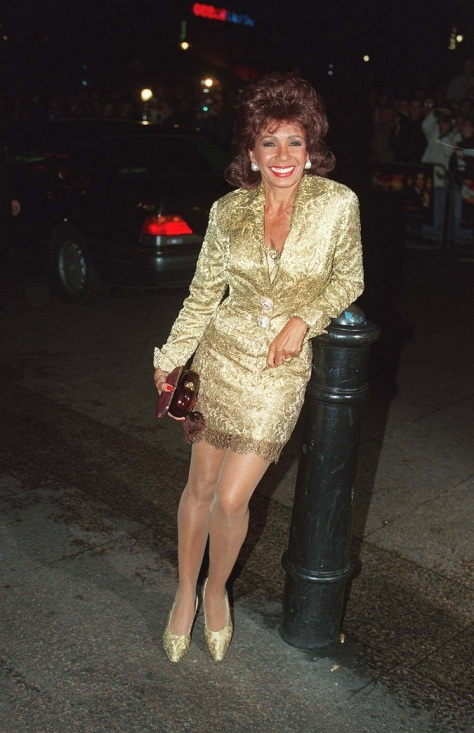 Dame Shirley at the premiere of the Bond film Golden Eye