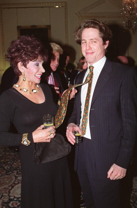 Dame Shirley and Hugh Grant