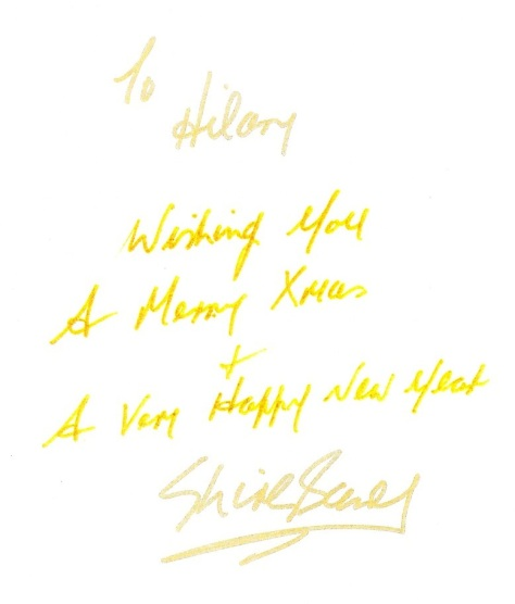 2013 Personal note for Hilary