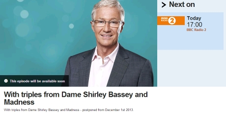 Paul O Grady - BBC Radio Two