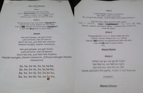 Bassey's annotated lyric sheets as shared by Dario G through social media offers a fascinating insight into the recording of the Dame's new song.