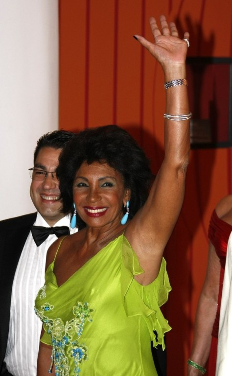 U.S singer Shirley Bassey arrives to attend the Red Cross Ball in Monte Carlo