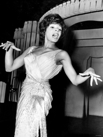 Shirley Bassey during a rehearsal