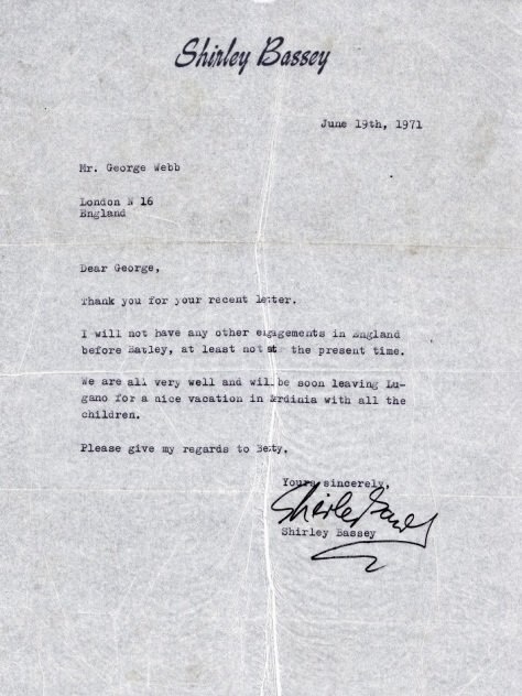 1971 Letter to George
