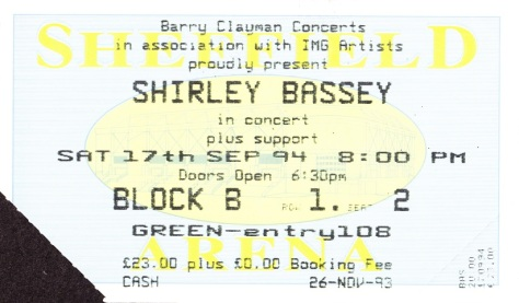 1994 Concert ticket