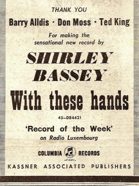 1960 Y NMEBassey11thMarch