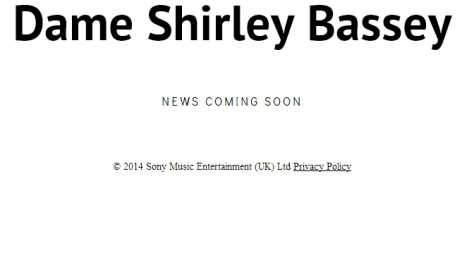 Dame Shirley Bassey Album Coming Soon