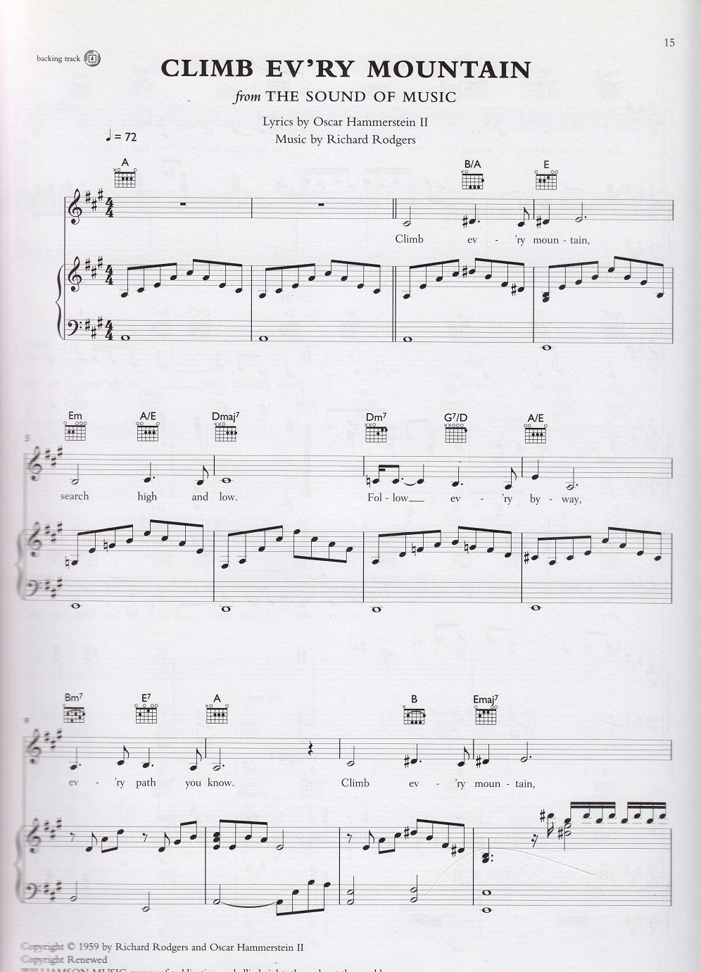 climb every mountain sheet music free pdf
