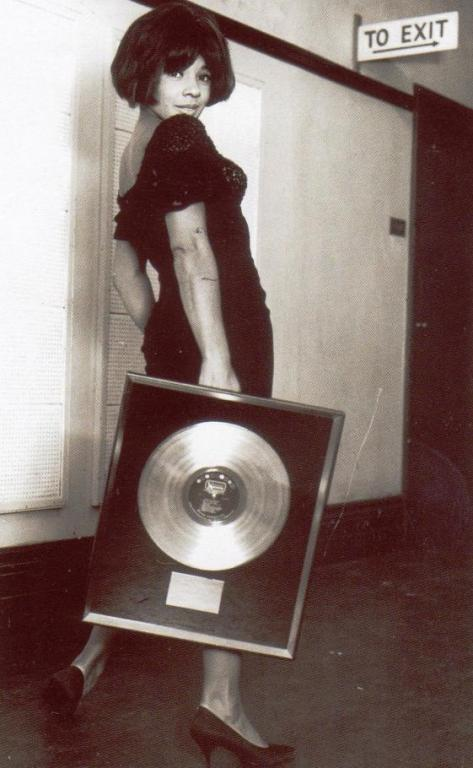 Shirley Bassey received a Gold Disc in May 1965 for Goldfinger