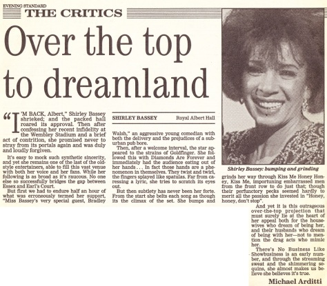 Review from Royal Albert Hall performance from 1991
