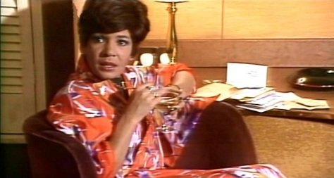 Dame Shirley Bassey in her dressing room waiting to go on stage before a Royal Variety Performance