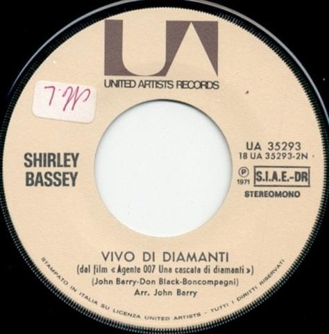 """The Italian version of """"Diamonds are forever"""" is called """"Vivo di diamanti"""". The Bondfilm is called """"Una cascata di diamanti"""" in Italian. The release was in 1972."""