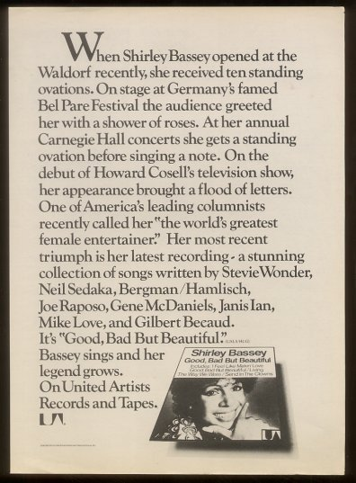 1975 - Good Bad But Beautiful -add