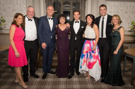 Dame Shirley Bassey attends star studded bash at Hensol Castle