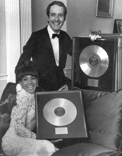 DSB & John Barry with the Gold Record for Goldfinger