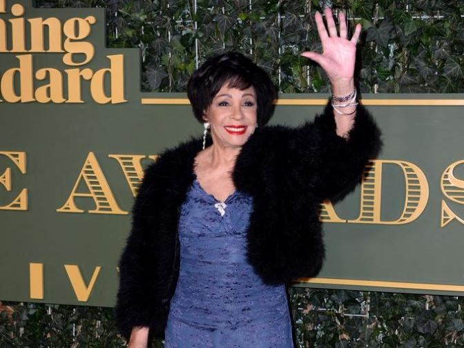 Dame Shirley Bassey at the Standard Theatre Awards.