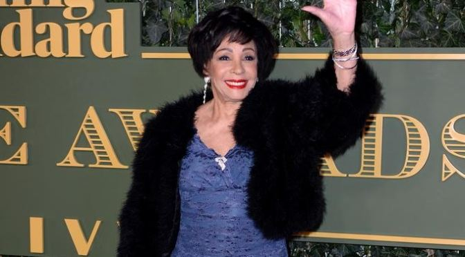 Dame Shirley Bassey at the Evening Standard Theatre Awards.