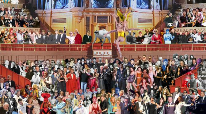 Sir Peter Blake's 'Appearing at The Royal Albert Hall'