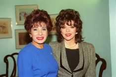 Left: SHIRLEY BASSEY British Singer and Right: JOAN COLLINS British Actress Bandphoto Agency Photo B21 008706/B-24 25.11.1994