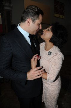 David Walliams pictured with Dame Shirley Bassey