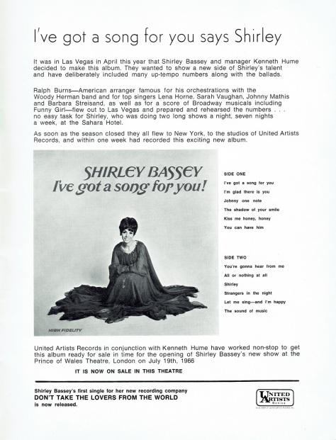 SB - 1966 Prince of Wales souvenir programme 13 - UK
