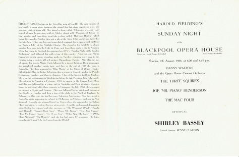 SB - Sunday 7th August 1966 Concert 2 - Blackpool UK