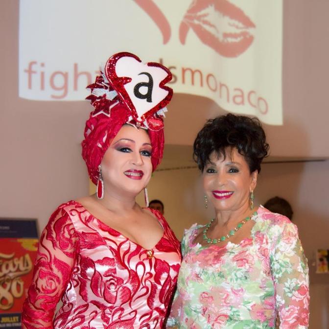 Dame Shirley Bassey at Fight AIDS Monaco Gala