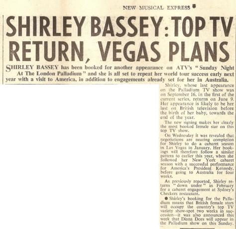 1963 AB NMEBassey31stMay