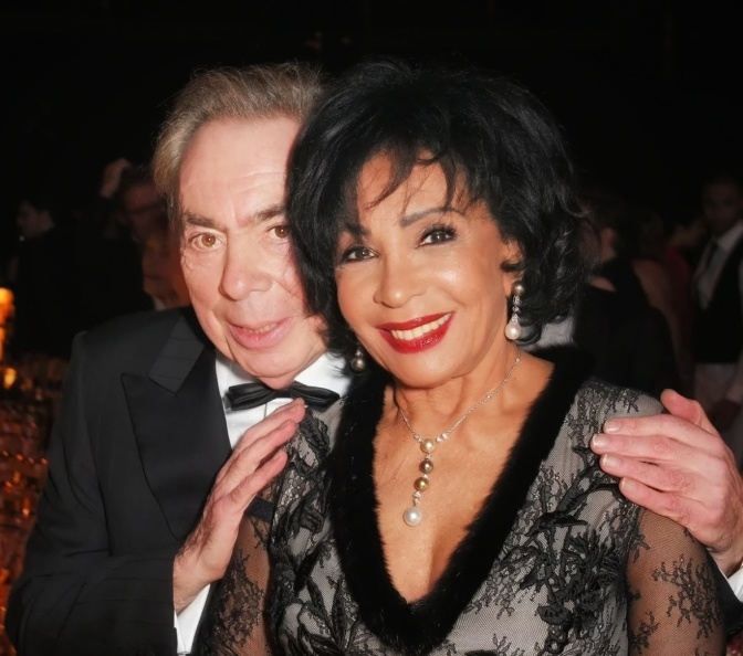 Dame Shirley Bassey at London Evening Standard Theatre Awards