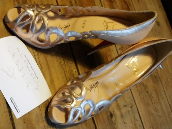 Dame Shirley has donated a signed pair of high heels to Cornwall Pride