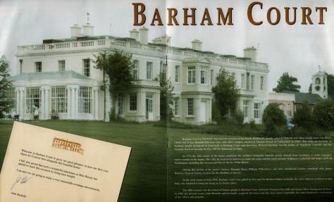 SB - Barham Court Programme 7 - UK