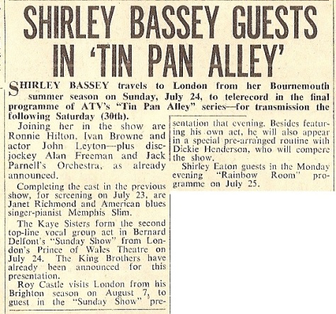 1960 AG NMEBassey15thJuly