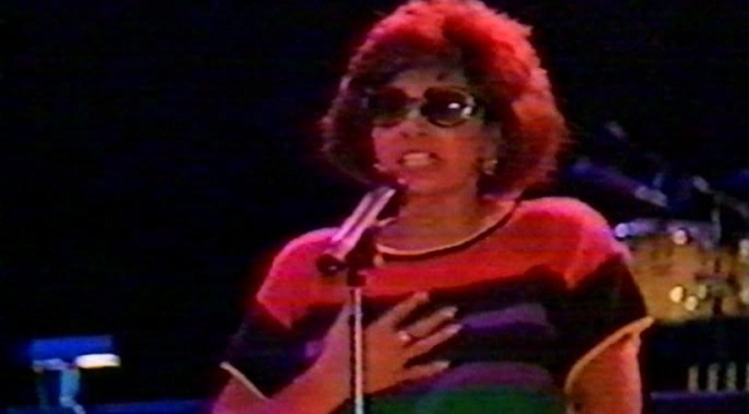 And now from CNN: Shirley Bassey rehearsing at Carnegie Hall -1989-