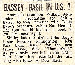 1965 BV NMEBassey22ndOct