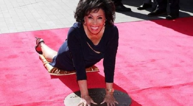 Dame Shirley Bassey unveils handprints at Square of Fame in London