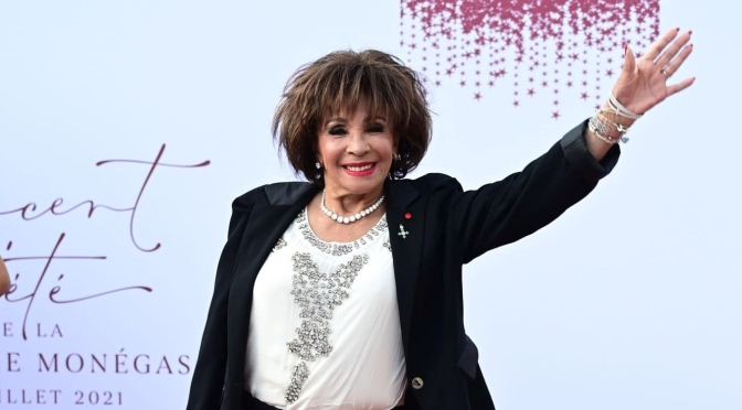 Dame Shirley Bassey attends the Red Cross Summer concert in Monaco