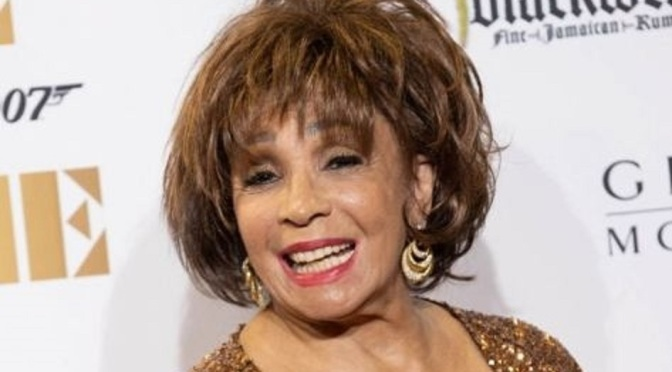 Dame Shirley Bassey at the premiere of No Time To Die